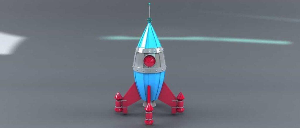 space rocket cartoon